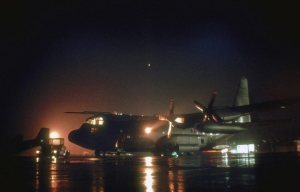RAF C130K Hercules Night Transport Aircraft